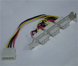 4-pin Molex power connector(3 ports)